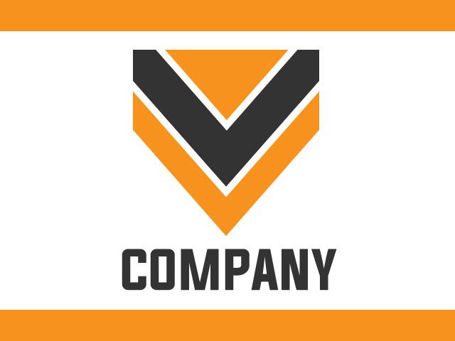 Letter V Minimal Logo Design Idea Free