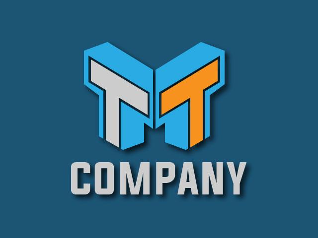 Creative Letter M Logo Design 3D Looking