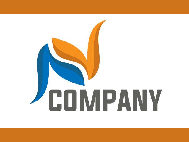 Initial Letter N Free Vector Logo Design