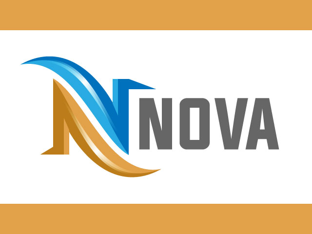 Initial Letter N 3D Logo Design