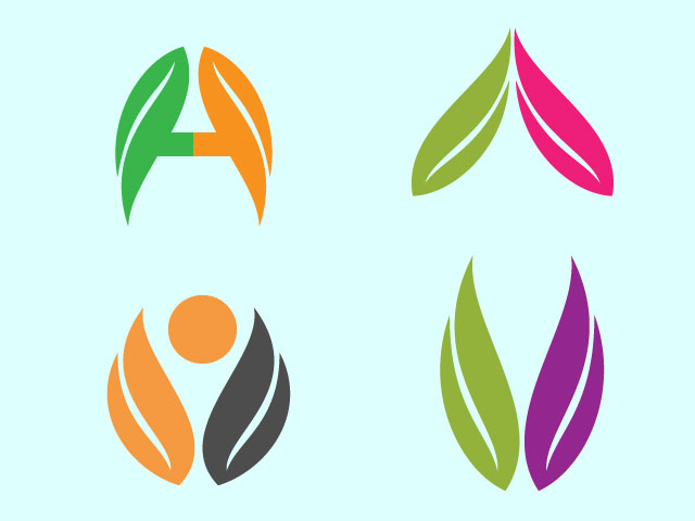 Medical Logo Design Using Tree Leaves