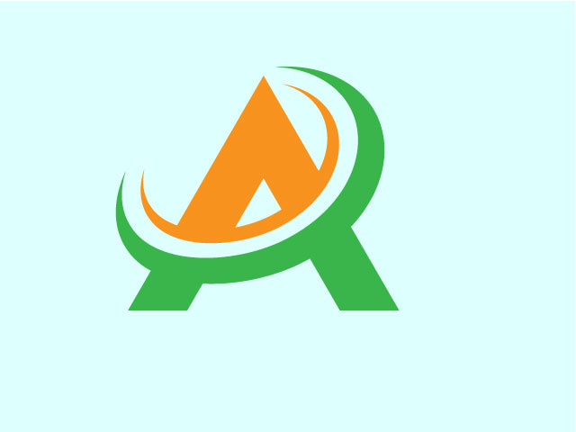 Creative Simple Letter A Logo For IT Business