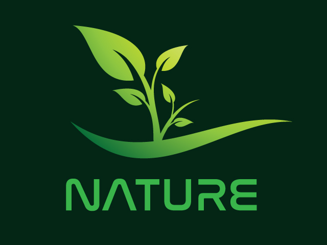 Nature Vector Logo Design Free Download