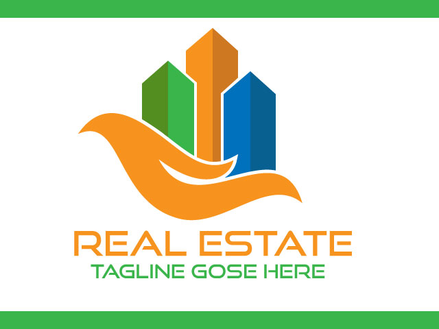 House Building Real Estate Logo Design