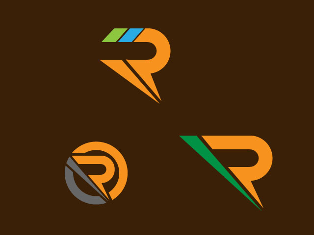 Creative Logo Design For Letter R Vector