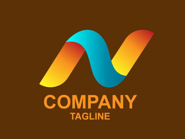 Letter N Modern Logo Free Logo Design