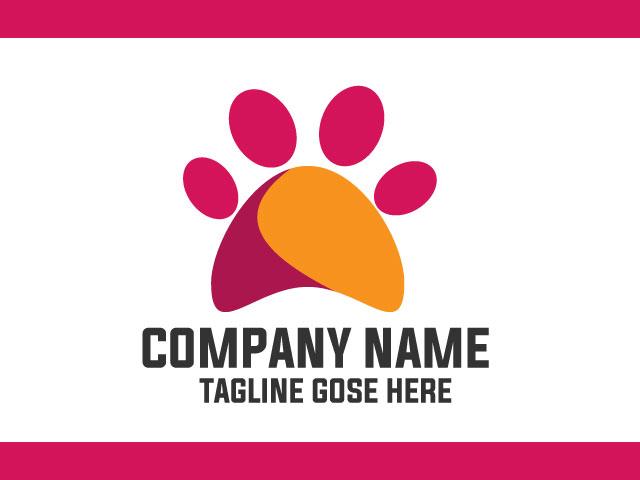 Animal Footprints Logo Design Vector