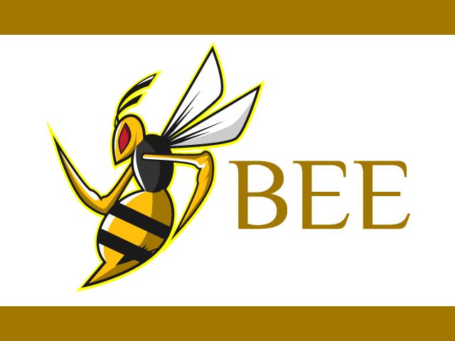 Bee Esports Logo Design Vector