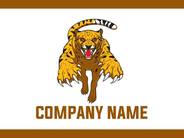 Cheetah tiger Logo Design Idea Vector