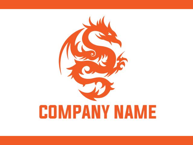 Dragon Animal Logo Design Vector