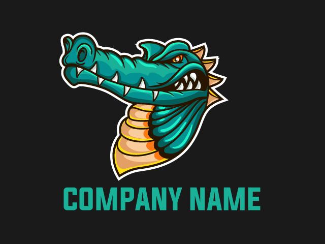 Dragon Mascot Logo Design Vector