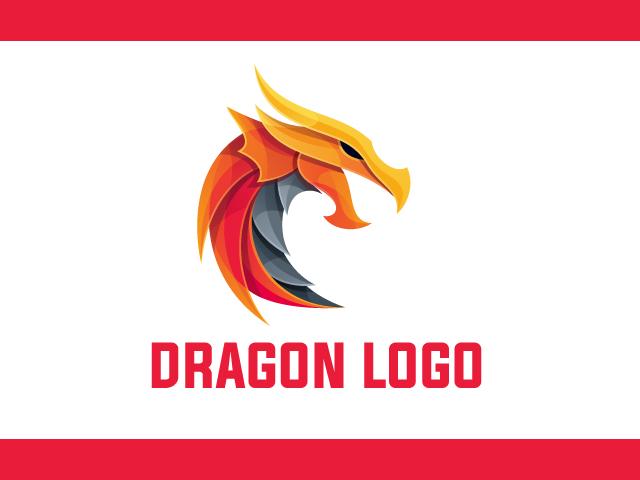 Dragon fire Logo Design Vector