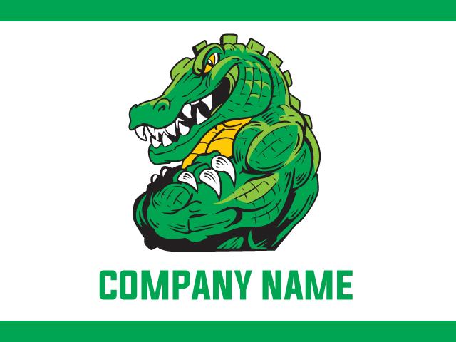 Gator Logo Design Vector