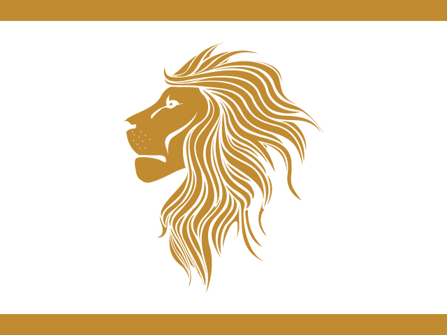 Golden Lion Logo Design Vector