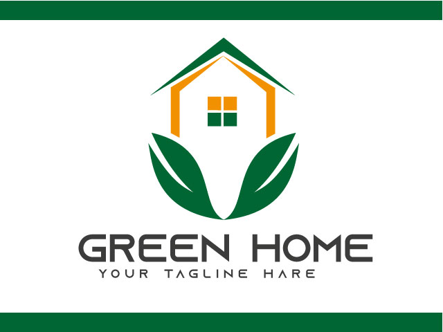 Green House Real Estate Logo Design