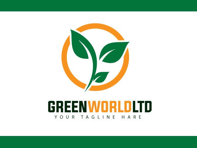 Green World Limited Logo Design Vector