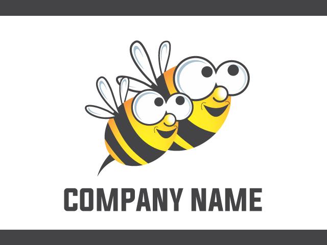 Honey Bee Logo Design Vector