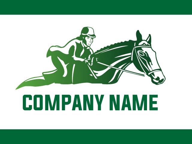 Horse Riding Logo Design Vector