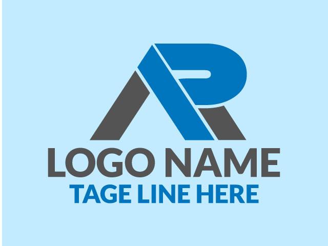 Letter A R Logo Design Vector