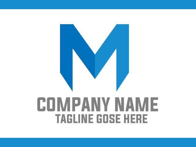 Letter M Business Logo Design Vector