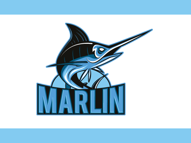 Marlin Fish Logo Design Vector