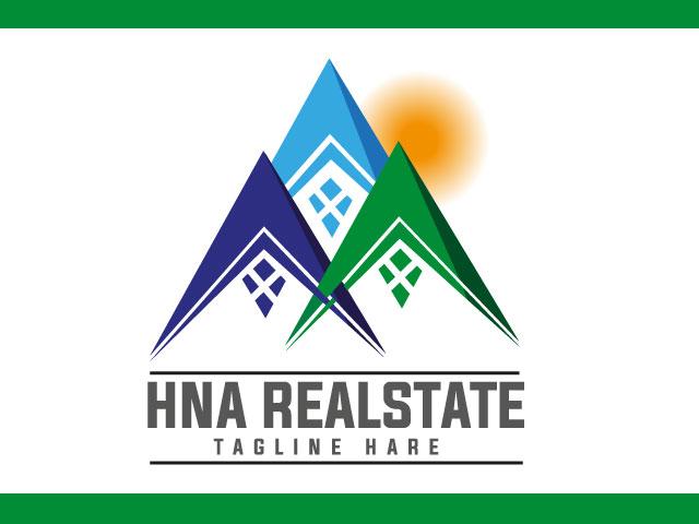 Modern House Real Estate Logo Design