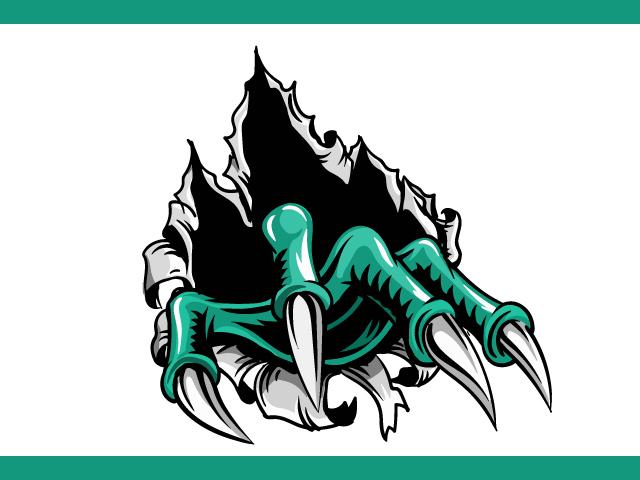 Monster Claws Logo Design Vector