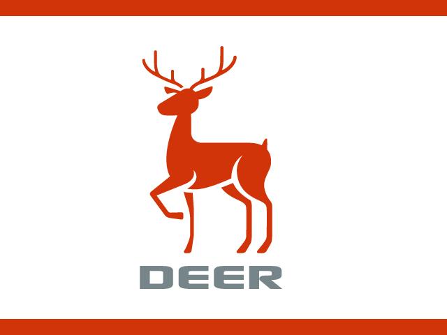 Simple deer Logo Design Vector
