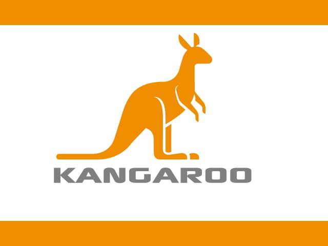 Simple Kangaroo Logo Design Vector