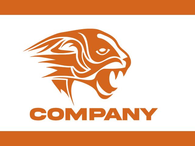 Tiger Cat Logo Design Vector