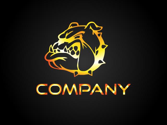 Bulldog Animal Logo Design Vector