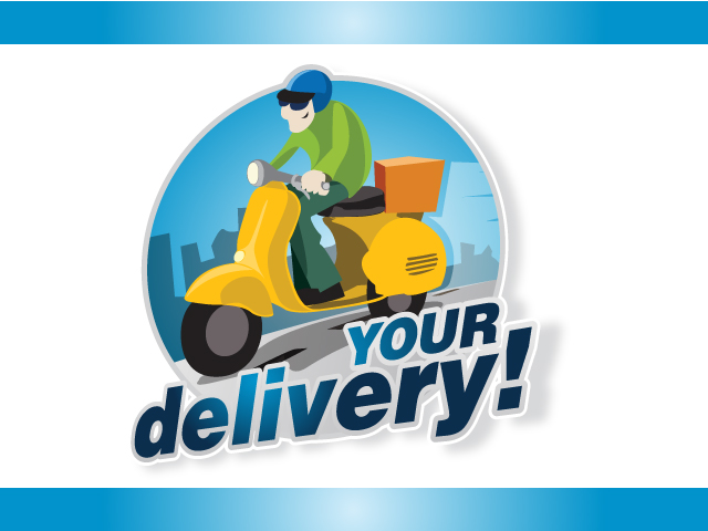 Delivery System ECommerce Logo Design Idea
