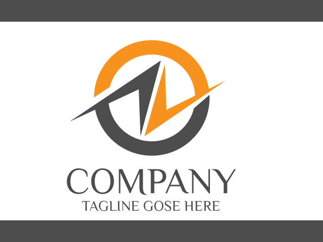 Electric Company Logo Design For Letter N Vector
