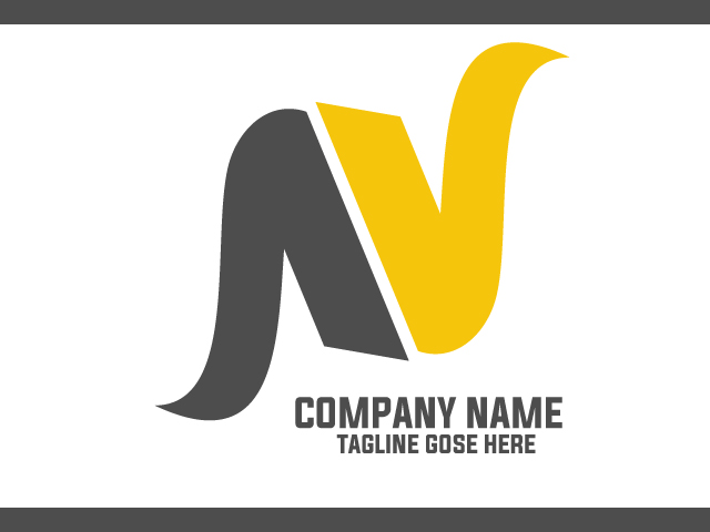 Letter N Business Logo Design Idea