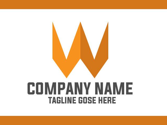 Letter W Modern Logo Design Vector