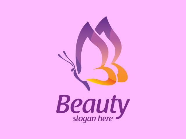 luxury butterfly logo design vector