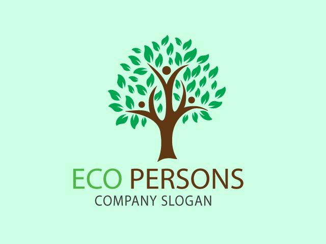plum tree shape logo design idea