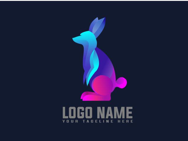 Rabbits Logo Design Vector