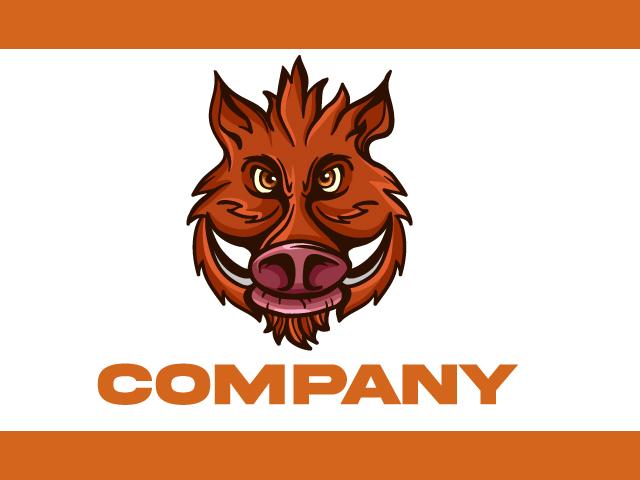 wild boar Logo Design Vector