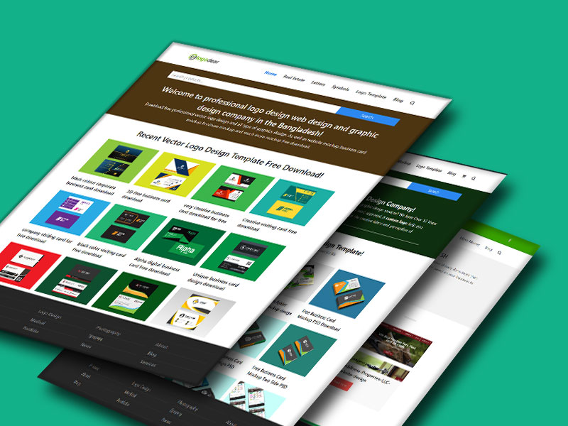 Best 3d Free Website PSD Mockups