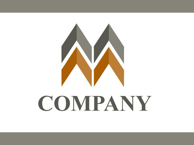 Letter M Company Logo Design Vector