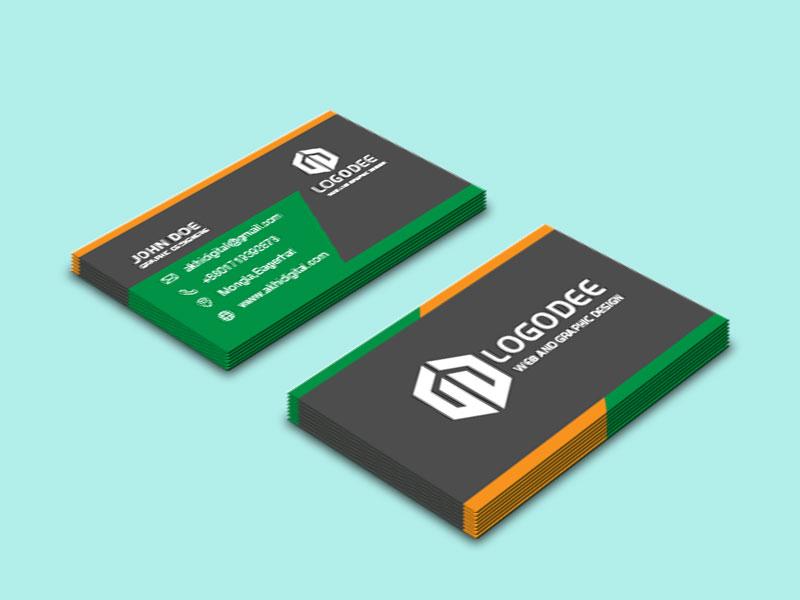 Modern Business Card Mockup Design PSD