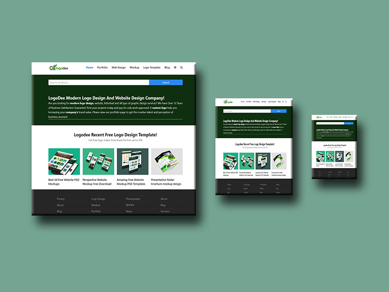 Responsive Website Free Mockup Download