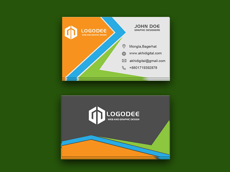 Standard Free Business Card Mockup PSD