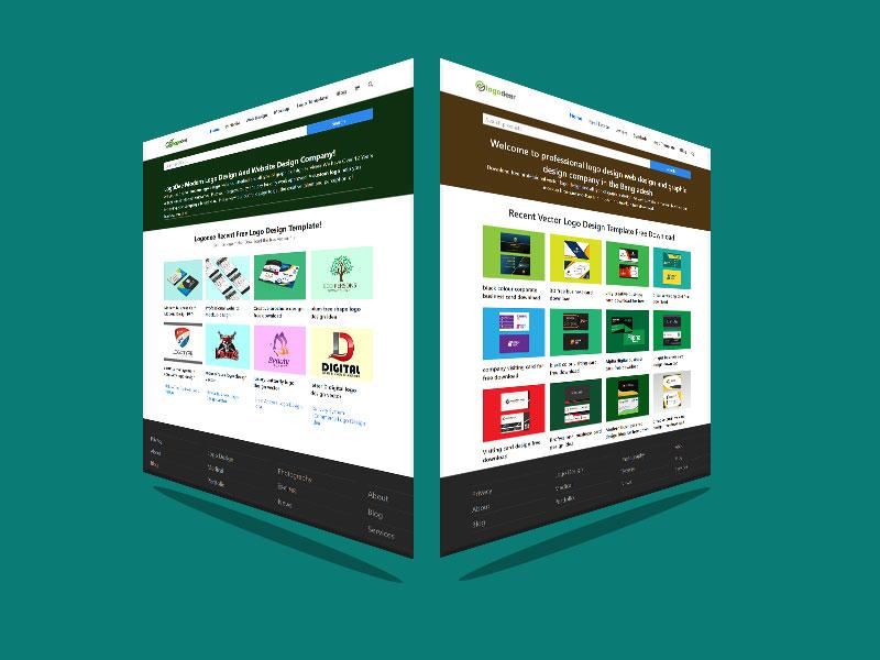 Two Modern Website Mockup Download