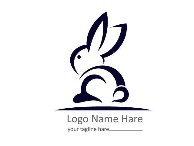 Minimal Rabbit Logo Design