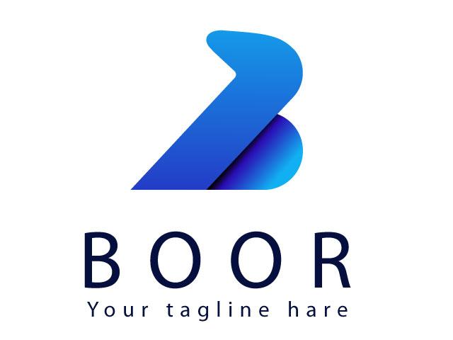 B Font Logo Design Free Download Vector