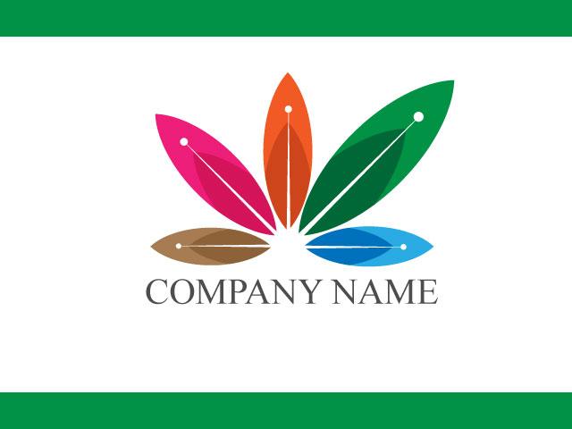 Flowers logo design vector