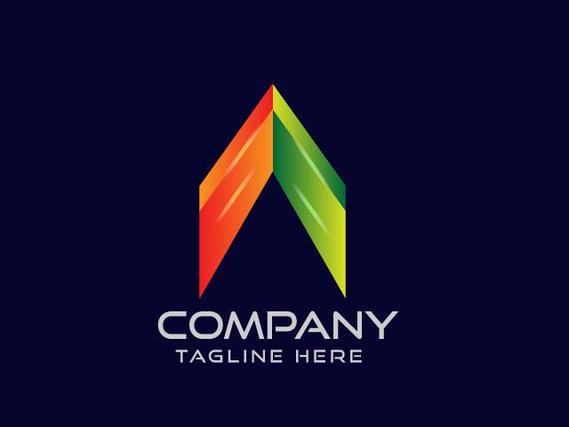 Letter A Modern logo design vector