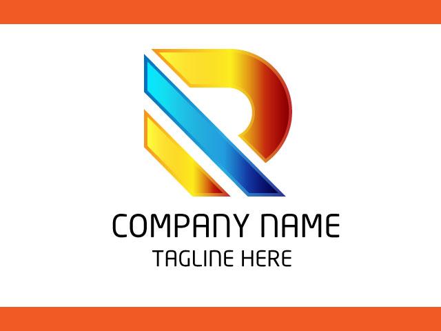 Letter R Minimal Logo Design Vector Free Download.